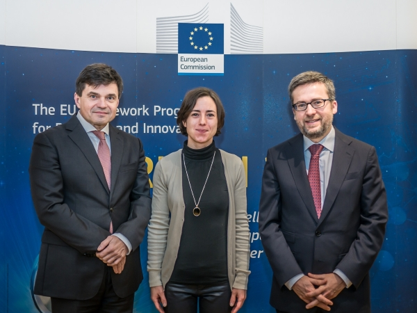 From left to right: Peter Plavčan, Minister of Education, Research and Sport of the Slovak Republic; Professor Andreja Kutnar, project manager InnoRenew CoE of the University of Primorska and Chair of FTP NSG Slovenia; and Carlos Moedas, the European Commissioner for Research, Science and Innovation. © University of Primorska